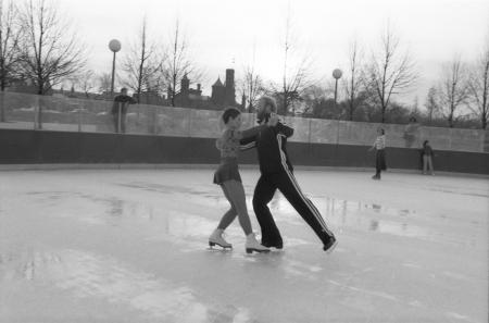Christine Smith and Gary Sturm Ice Dancing, 1981, by Dane Penland, Smithsonian Institution Archives,