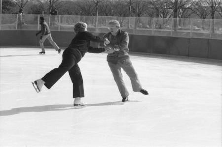 Phyllis and Paul Spangler Skate on the National Mall, 1980, Smithsonian Institution Archives, Record