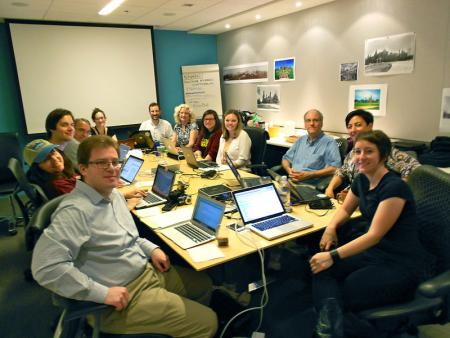 Participants at the Smithsonian Institution Archives Wikipedia Meetup, May 25, 2012