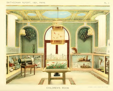 An illustration of the Children's Room in the Smithsonian Castle. Annual Report of the Board of Rege