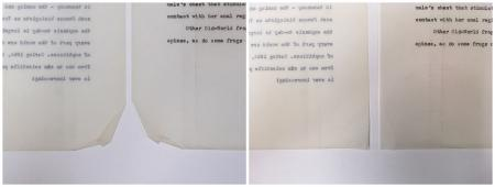 Side by side of archival documents.