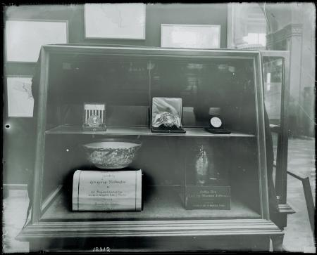 Exhibit Case Containing Presidential Artifacts