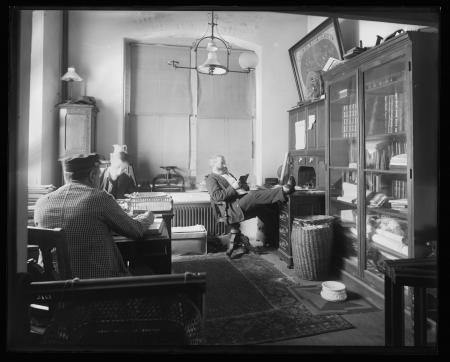 Henry Horan in the office of the Superintendent of Buildings in the United States National Museum.