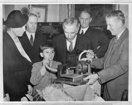 Opening of Box Containing Thomas Edison's Graphophone
