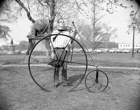Unidentified Man with Smith Star Bicycle