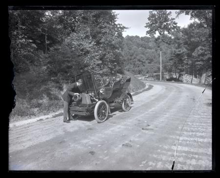 Unidentified Man with Automobile