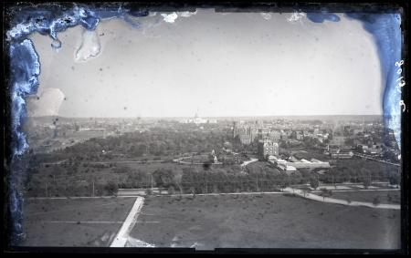 Aerial view of the National Mall looking east from the Washington Monument during its first stage of