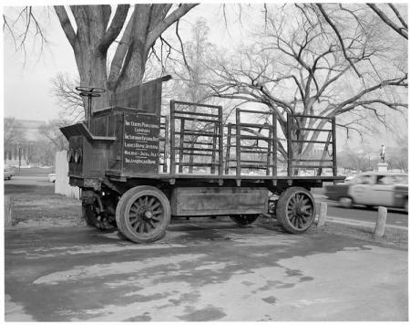 Curtis Publishing Company Delivery Truck on the National Mall