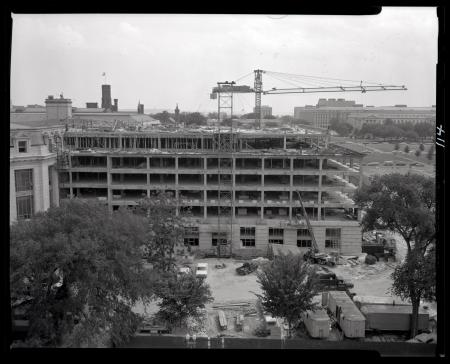 Construction of West Wing of Museum of Natural History