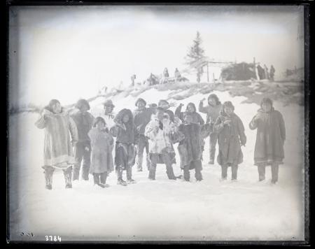 Group Portrait of Inuits, Northern Alaska Exploring Expedition