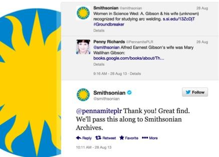 Tweets between @Smithsonian and @PennamitePLR