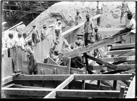 Construction of Stone Bridge Across Rock Creek