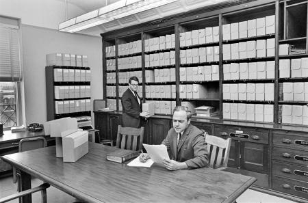 Archivist Sam T. Suratt at Smithsonian Institution Archives