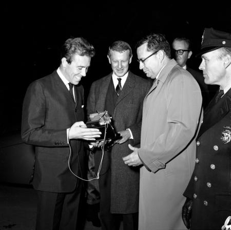 Presentation of Camera to First Earl of Snowdon at National Zoological Park