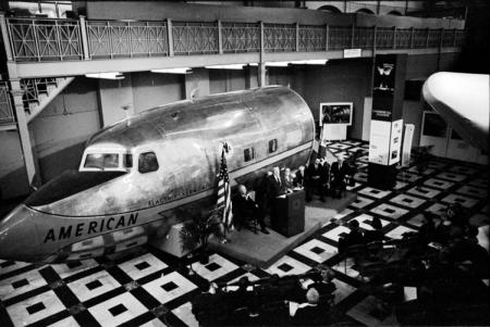 Presentation of Douglas DC-7 in the Arts and Industries Building