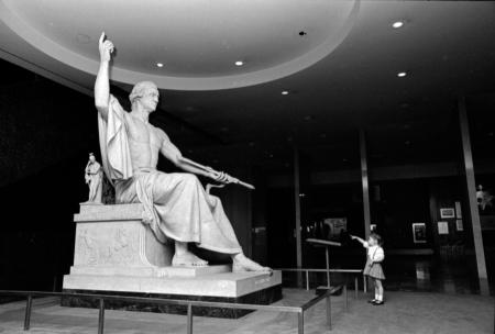 Sculpture of George Washington by Horatio Greenough