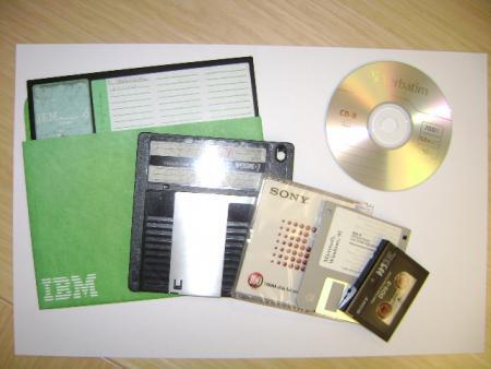 Obsolete storage media.