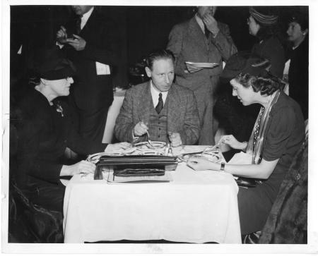 Helen Miles Davis (left), Thomas Robert Henry (center) and Jane Stafford (right), 1942. Accession 90