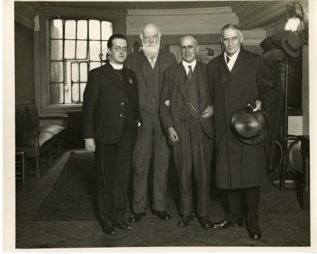 Left to Right: astronomer and Catholic priest Georges Henri Joseph Édouard Lemaître (1894-1966