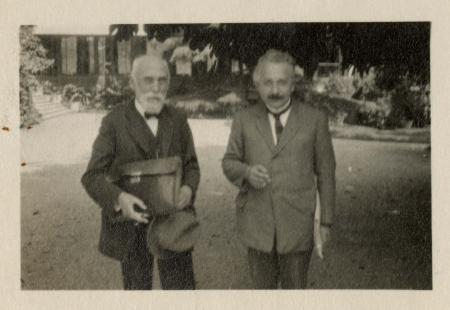 Physicists Hendrik Antoon Lorentz and Albert Einstein, co-chairmen of the League of Nations Committe