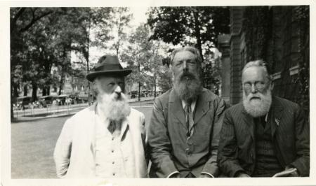 James Mavor, D'Arcy Wentworth Thompson, and Herbert Wildon Carr. Smithsonian Institution Archives, S