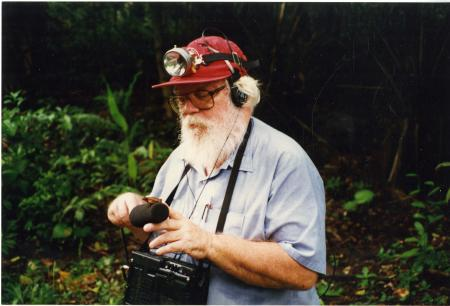 A. Stanley Rand in Panama on the Old Gamboa Road in June of 1996, by Dorothy White, Record Unit 9579