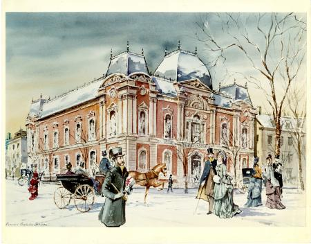 Painting of the Renwick Gallery, by Briggs, Frederic Schuler, c. 1870, Smithsonian Archives - Histor