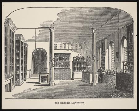 Chemical Laboratory in the Smithsonian Institution Building, or Castle