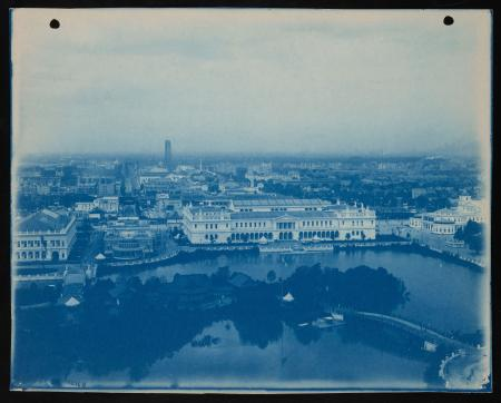 Cyanotype, aerial view of buildings and grounds at the World's Columbia Exposition, Chicago, 1893.