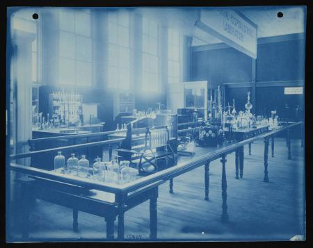 Marine Hospital Service Laboratory exhibit - equipped with apparatus for investigating subjects pert