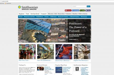 Smithsonian Institution homepage at si.edu, accessed September 11, 2015.