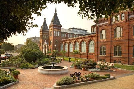 The Smithsonian's Arts and Industries building, southwest facing view, in Washington, D.C., by Eric