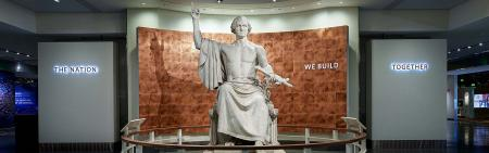 George Washington Statue and the Nation We Build Together Gateway, National Museum of American Histo