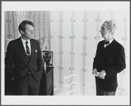 Reference photo for Norman Rockwell's portrait of Robert F. Kennedy, c. 1968. Courtesy of the Norman