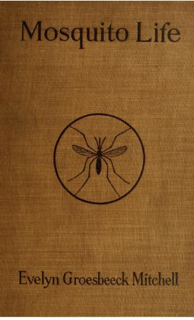 Title, Mitchell's name, and an illustration in the center of a mosquito in a circle.
