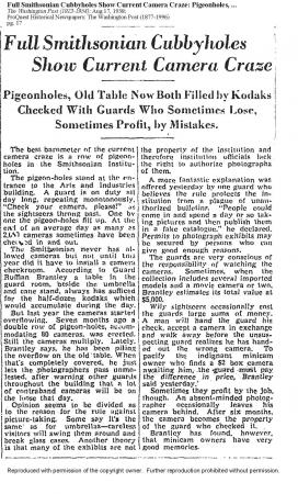 Scan of a 1938 Washington Post article.