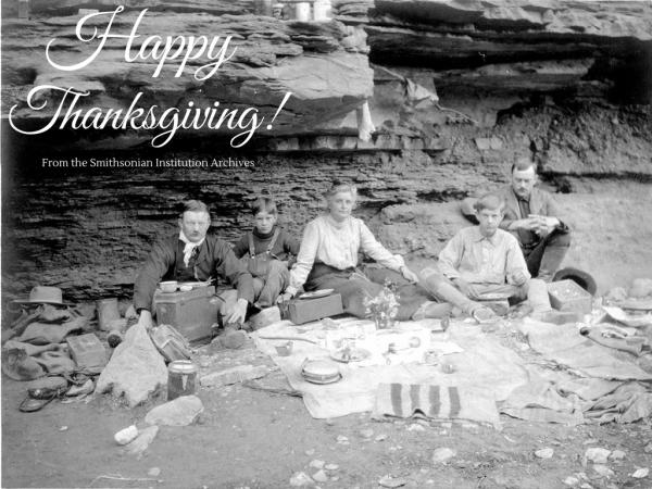 A young Charles D. Walcott and his family at the Grand Canyon, 1903.
