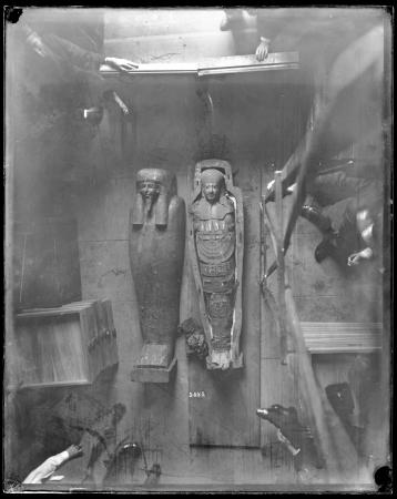 Mummy and Sarcophagus Found in Luxor, Egypt, 1886