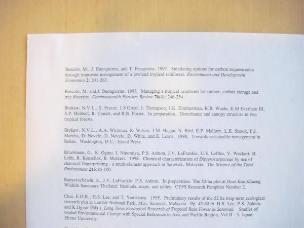 A page of the 1999 bibliography, specifically featuring economic articles.