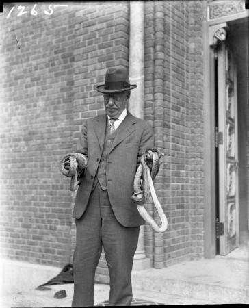 William H. Blackburne with Snakes
