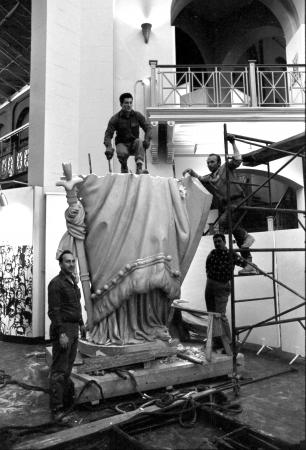 "Dismantling of ""Statue of Freedom"""