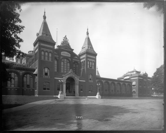 Exterior view of the Arts and Industries Building.