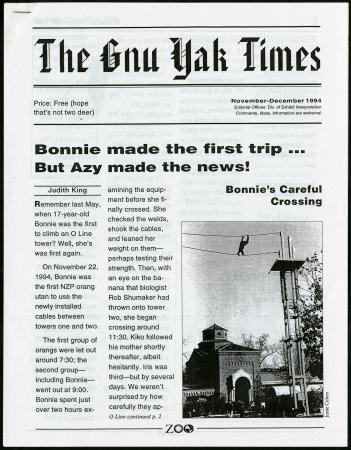 """""""Bonnie made the first trip. . .but Azy made the news!"""" The story of Azy's escape from the O line in"""