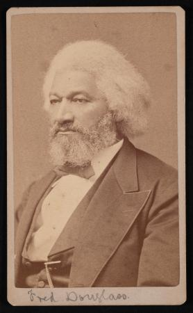 Portrait of Douglass looking off to the side.