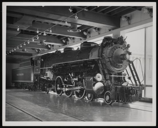 The locomotive on display.