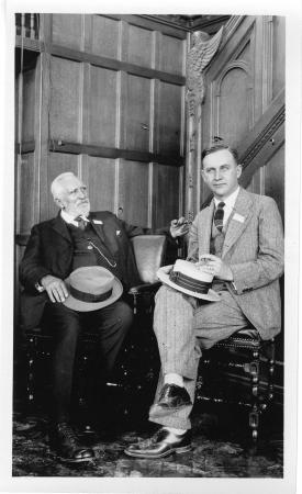 Henry Nehrling (1853-1929), horticulturist, with his son Arno Herbert Nehrling (1886-1974), Assistan