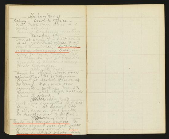 Page from William Healey Dall's 1872 Diary