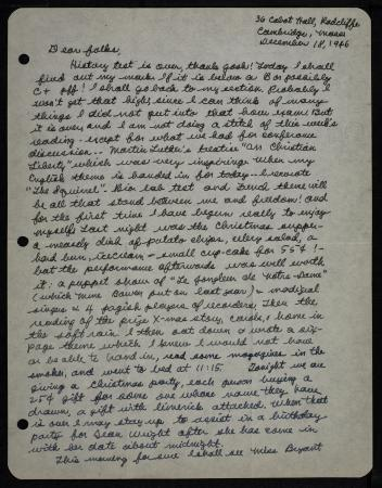 A handwritten letter in cursive handwriting with black ink.