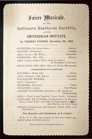The program for the concert