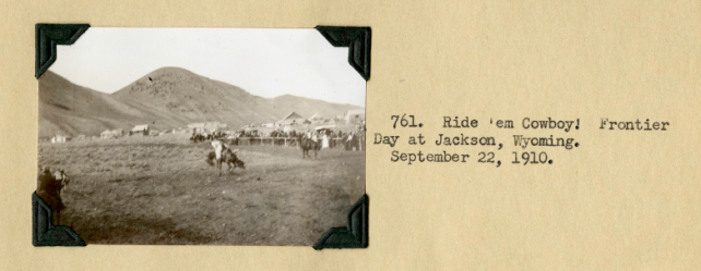 Photos Alexander Wetmore took on Frontier Day, Wyoming, 1910.